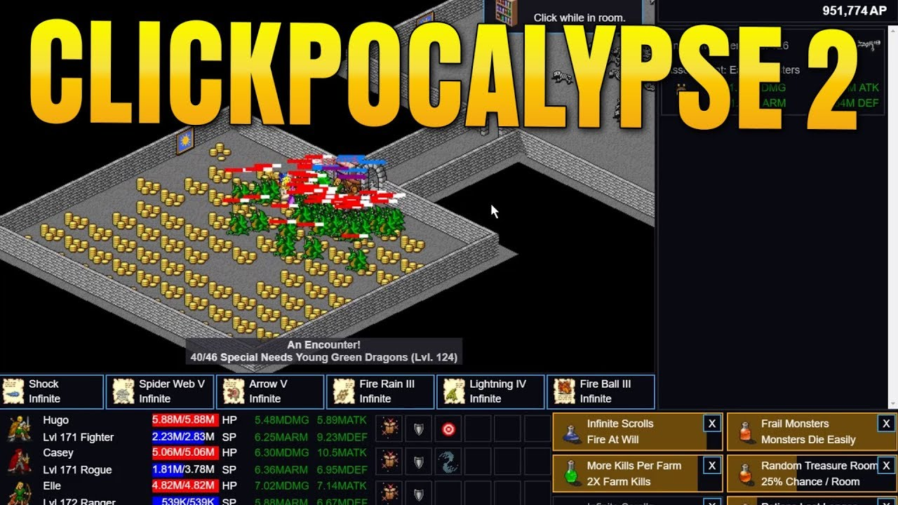 Clickpocalypse II idle tap game