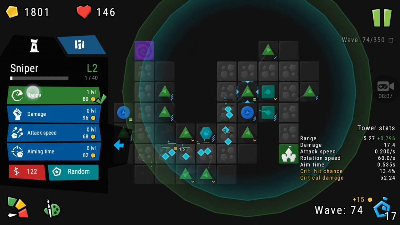 infinitode tower defense game