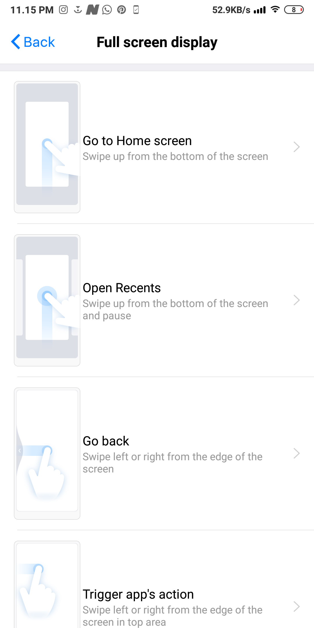 full screen gestures on redmi note 7