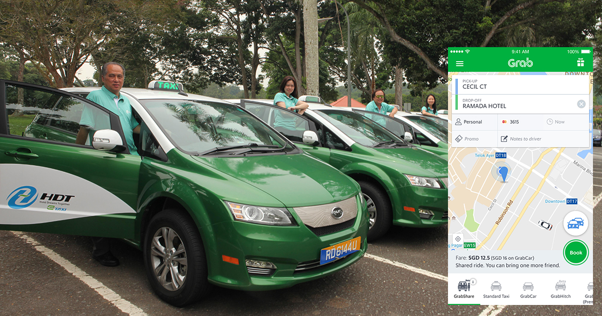 grab taxi apps